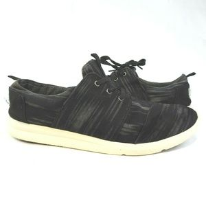 TOMS Black Canvas Sneakers